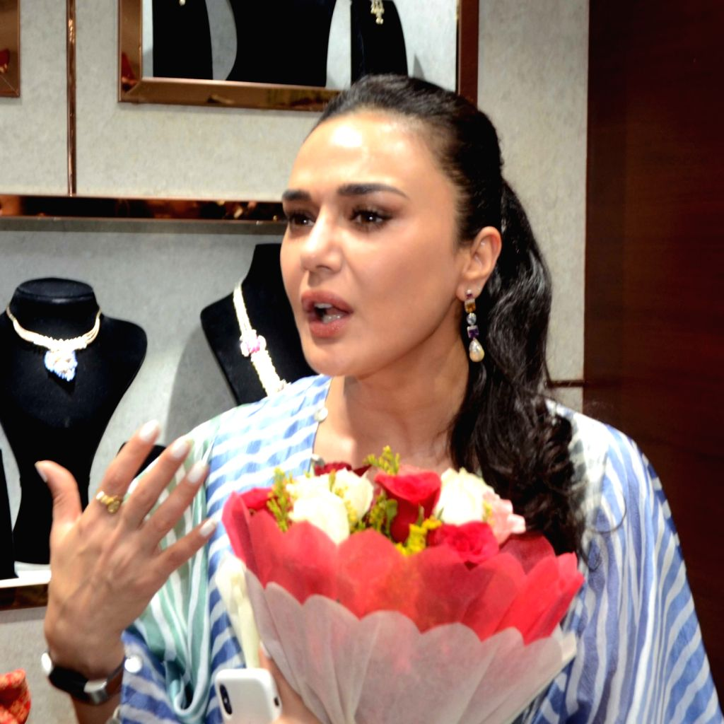 Patna: Actress Preity Zinta at the launch of a jewelry store, in Patna on Oct 11, 2019. (Photo: IANS) - Preity Zinta