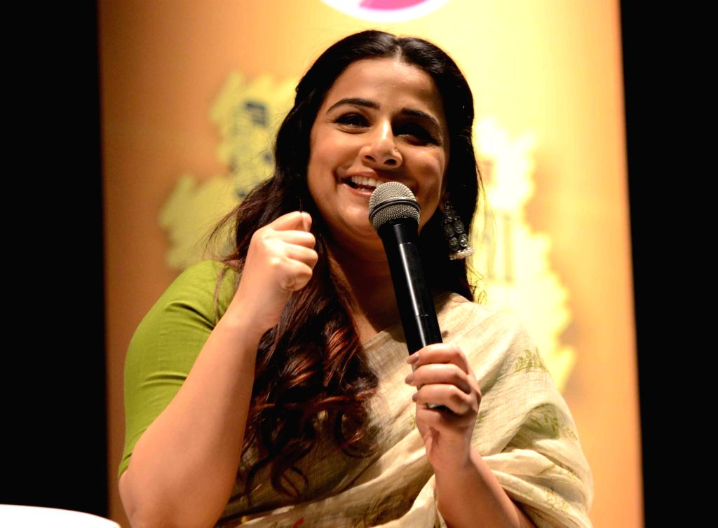 Patna: Actress Vidya Balan addresses during a programme in Patna, on March 15, 2019. (Photo: IANS) - Vidya Balan
