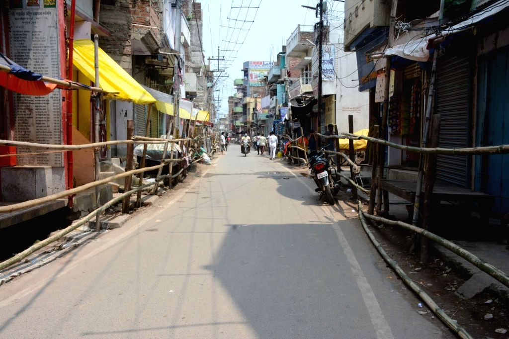 Patna bears a deserted look during a re-imposed COVID-19 lockdown in the city, on July 14, 2020.