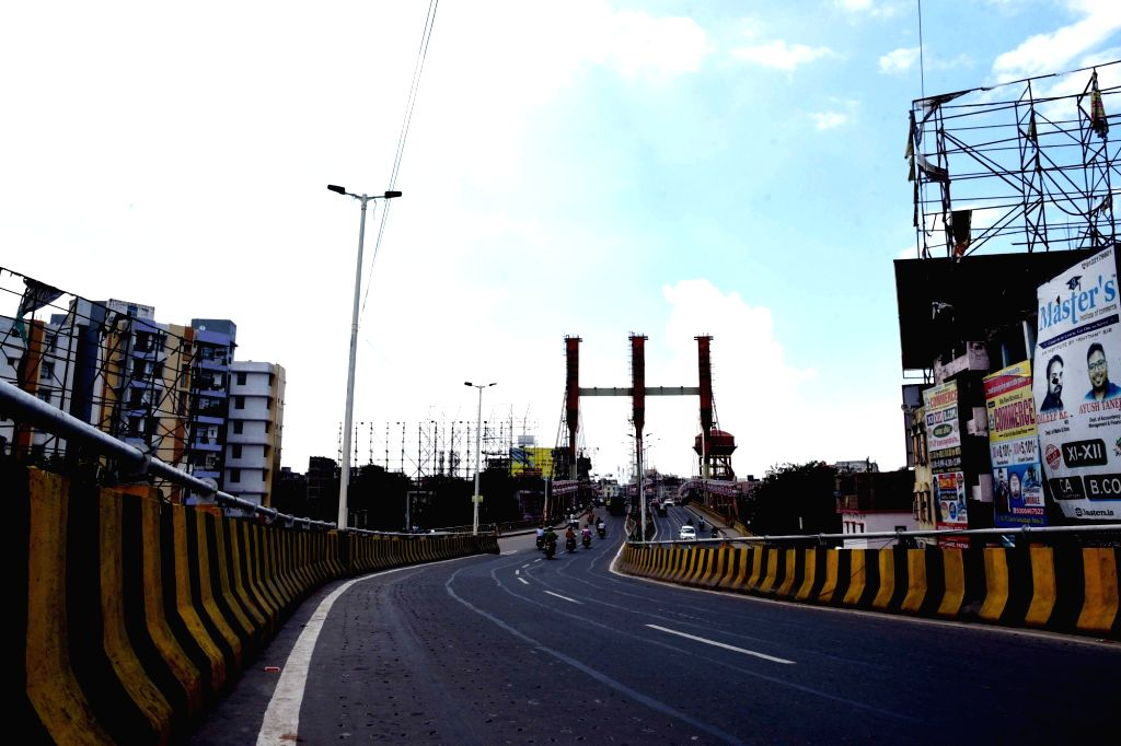 Patna bears a deserted look during a re-imposed COVID-19 lockdown in the city, on July 15, 2020.