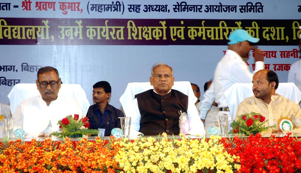 Bihar Chief Minister Jitan Ram Majhi during a programme in Patna on Nov 6, 2014. - Jitan Ram Majhi