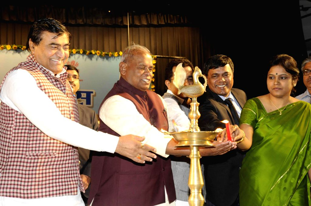 Bihar Chief Minister Jitan Ram Majhi during a programme organised on World Toilet Day in Patna, on Nov 19, 2014. - Jitan Ram Majhi