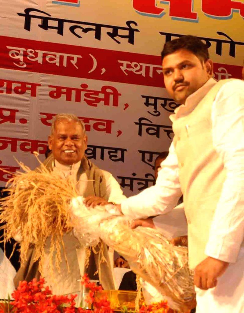 Bihar Chief Minister Jitan Ram Majhi during a programme in Patna on Dec 17, 2014. - Jitan Ram Majhi