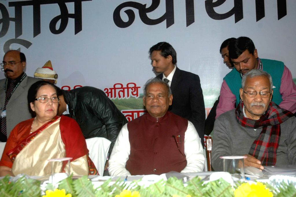 Bihar Chief Minister Jitan Ram Majhi during a programme in Patna on Jan 10, 2015. - Jitan Ram Majhi
