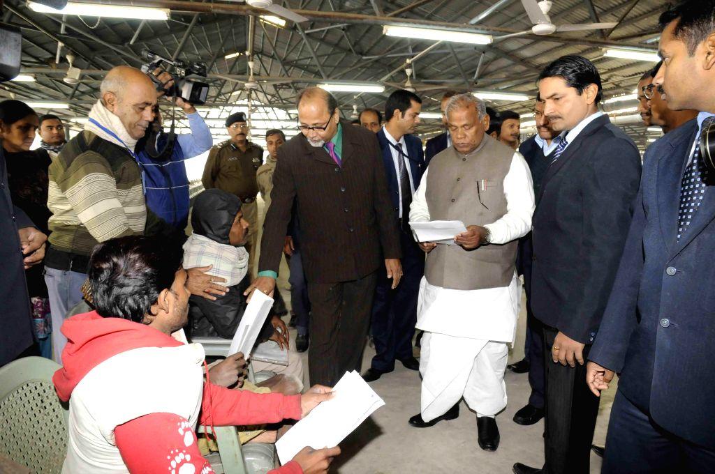 Bihar Chief Minister Jitan Ram Majhi during Janta Durbar in Patna, on Jan 12, 2015. - Jitan Ram Majhi