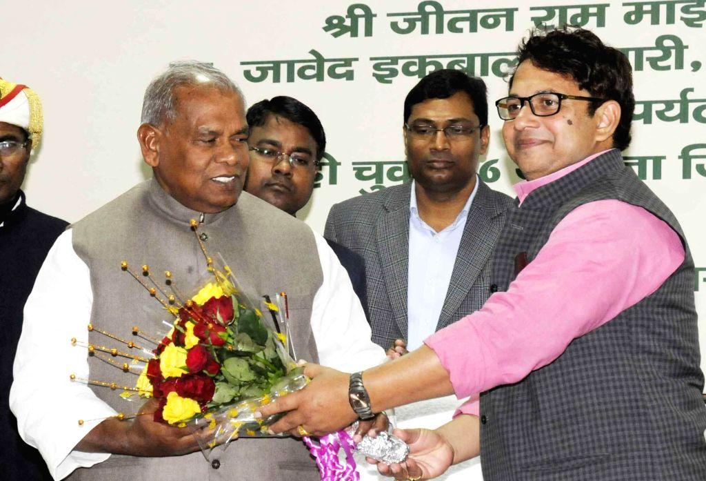 Bihar Chief Minister Jitan Ram Majhi during a programme in Patna on Feb. 4, 2015. - Jitan Ram Majhi