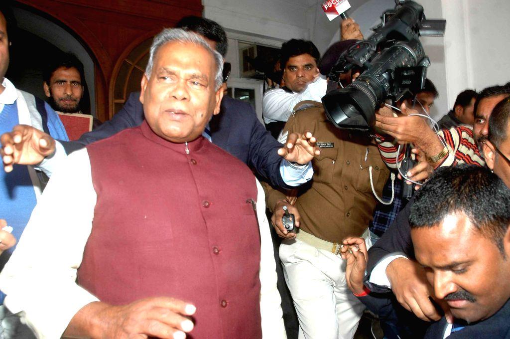 Bihar Chief Minister Jitan Ram Majhi during a programme organised at Raj Bhawan in Patna, on Feb 9, 2015. - Jitan Ram Majhi
