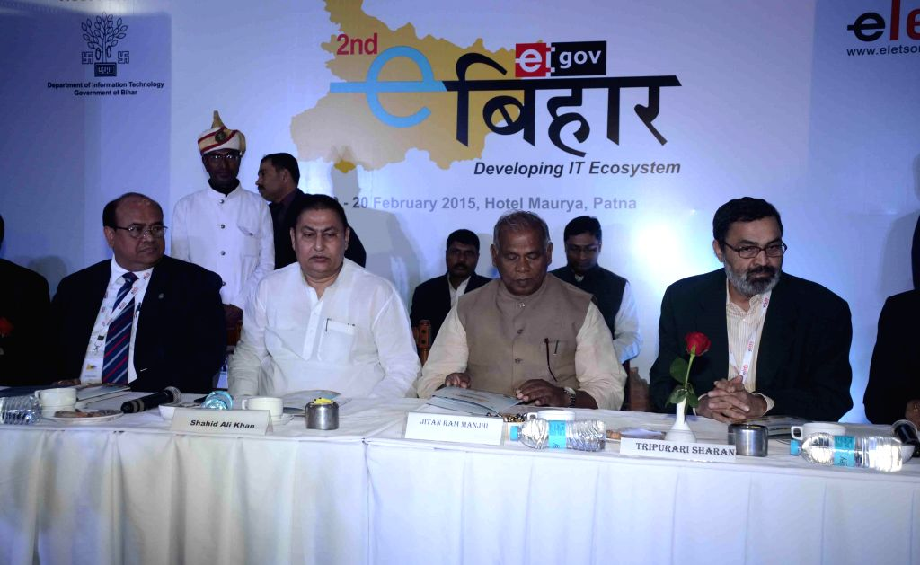 Bihar Chief Minister Jitan Ram Majhi during a programme in Patna on Feb 19, 2015. - Jitan Ram Majhi