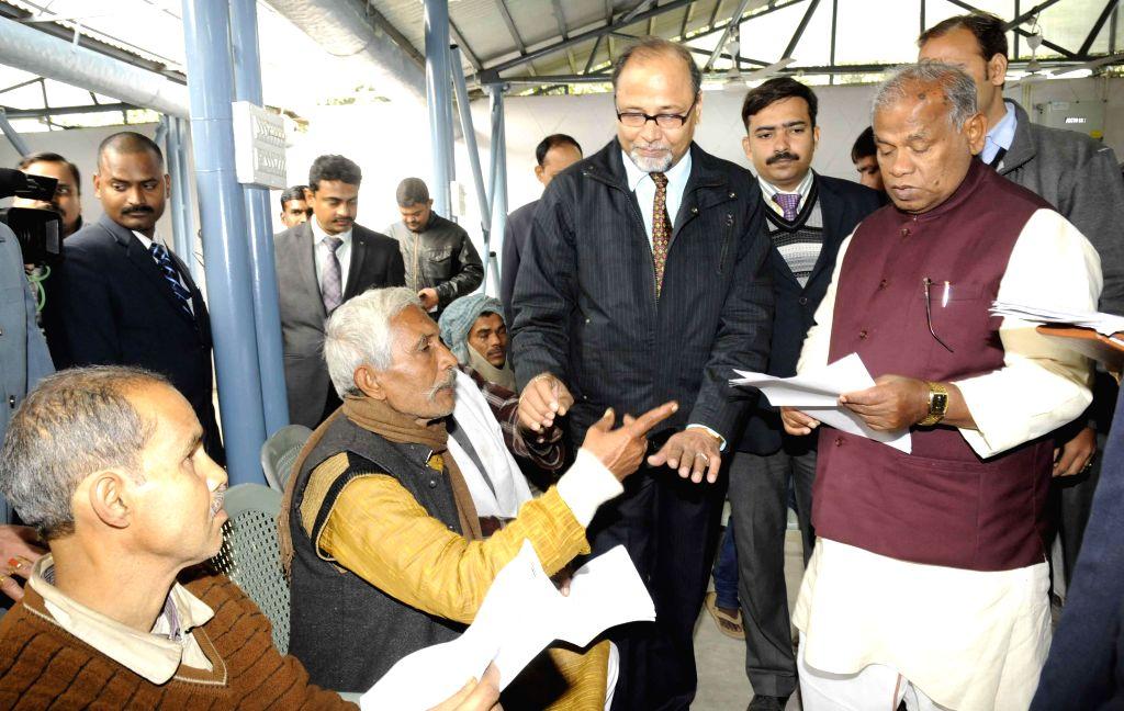 Bihar Chief Minister Jitan Ram Manjhi during Janta Darbar in Patna on Jan. 5, 2015.
