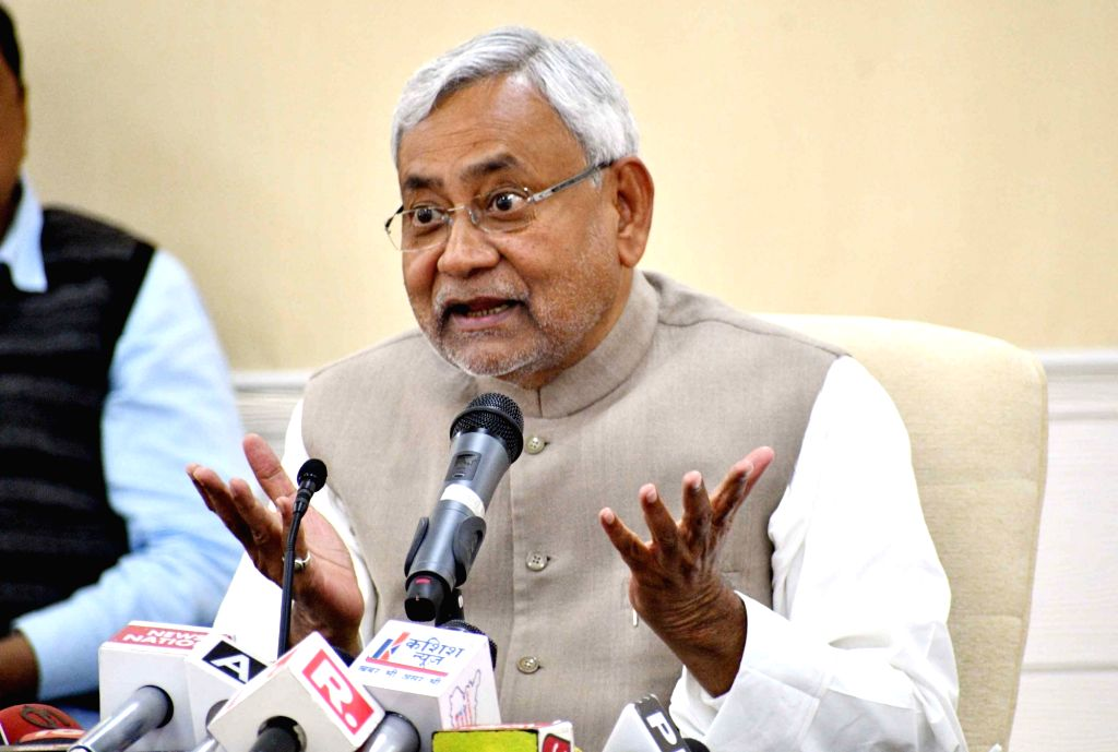:Patna: Bihar Chief Minister Nitish Kumar addresses a press conference after Lok Samvad programme in Patna on Feb 12, 2018. (Photo: IANS).