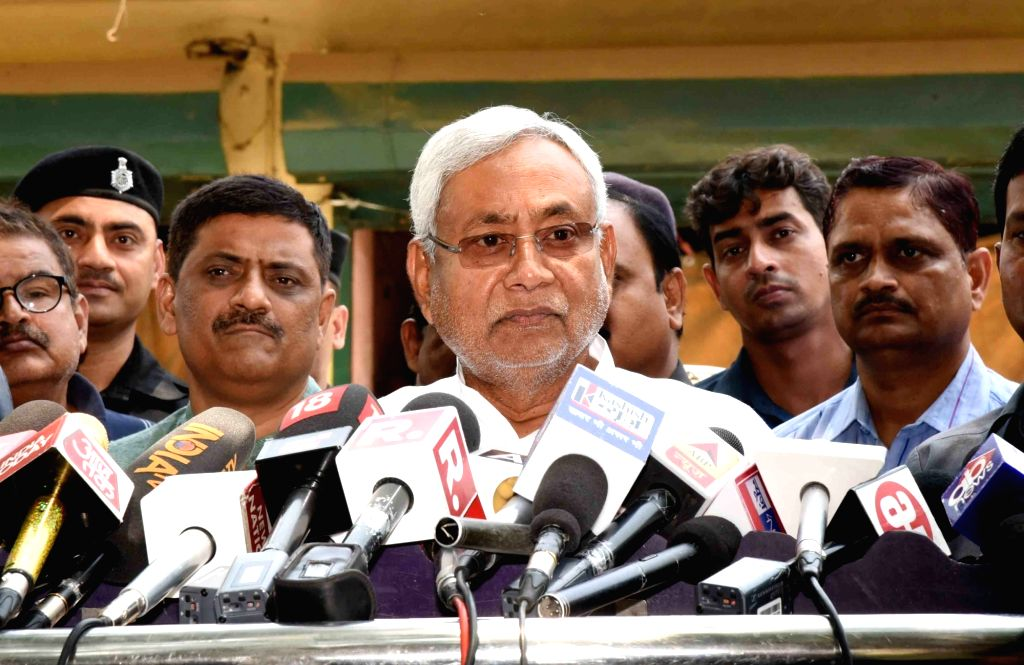 Patna: Bihar Chief Minister Nitish Kumar addresses a press conference in Patna on May 31, 2019. (Photo: IANS) - Nitish Kumar