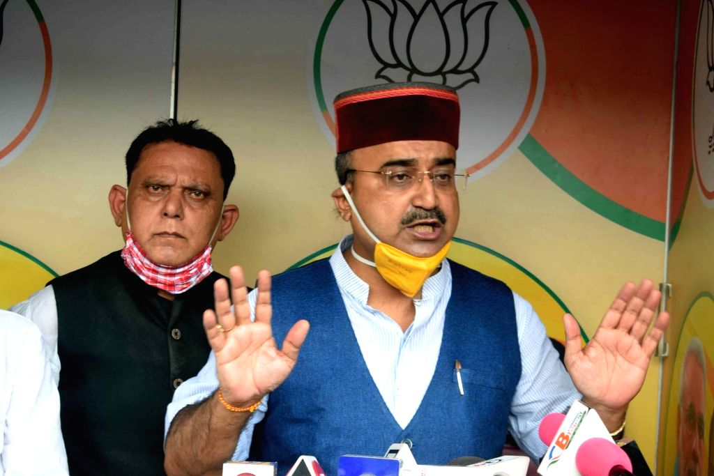 Patna: Bihar Health Minister Mangal Pandey addressing a press conference in Patna on September 06, 2020. (Photo: IANS) - Mangal Pandey