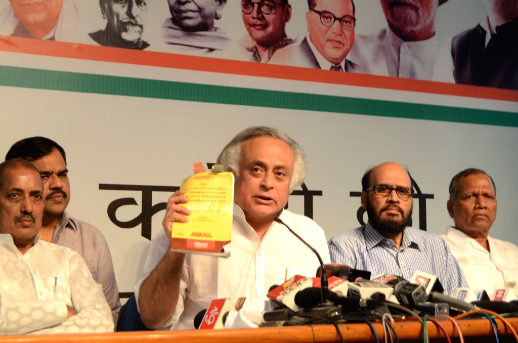 Congress leader Jairam Ramesh addresses a press conference in Bhopal, on May 4, 2015.