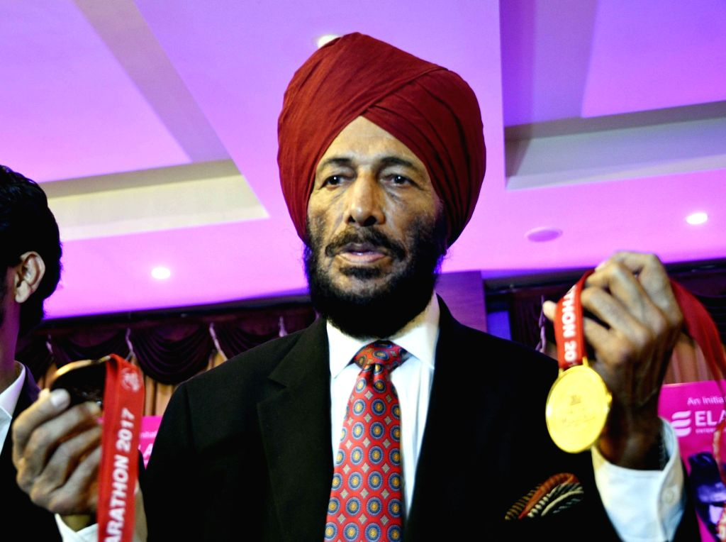 Patna: Indian track and field athlete Milkha Singh during a press conference in Patna on Dec 16, 2017. (Photo: IANS) - Milkha Singh