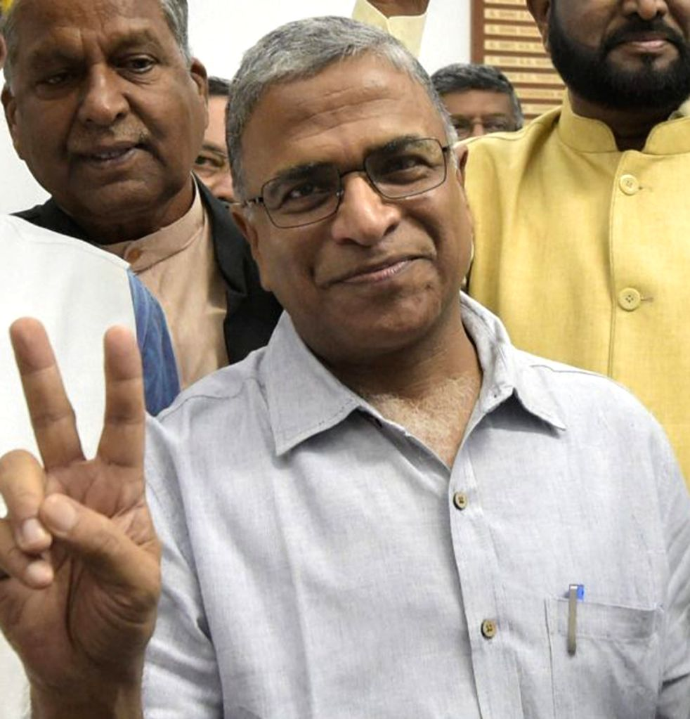 Patna: JD(U) to nominate Harivansh Singh for Rajya Sabha polls in Patna on March 11, 2020. (Photo: IANS) - Harivansh Singh