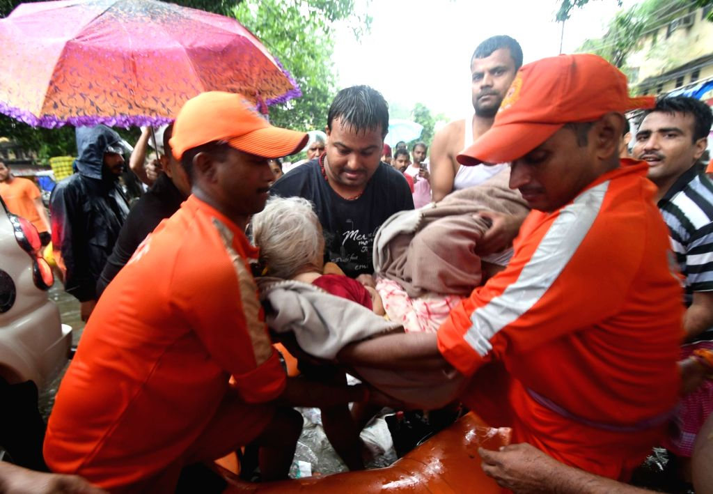 Patna: Patna: NDRF personnel carry out rescue operations in flood affected Patna, on 29 Sep, 2019. (Photo: IANS)