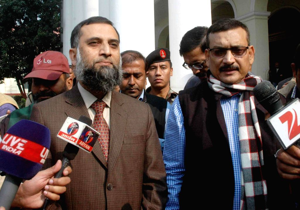 Secretary Home department Amir Subhani during a press conference in Patna on Nov 29, 2014.