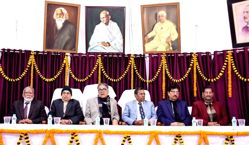 Patna University (PU) Vice Chancellor Rash Bihari Prasad Singh at the 158th Foundation Day of the university, in Patna on Jan 9, 2020.