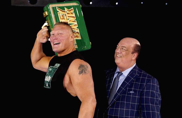 Paul Heyman and Brock Lesnar. (Photo: Twitter/@HeymanHustle)