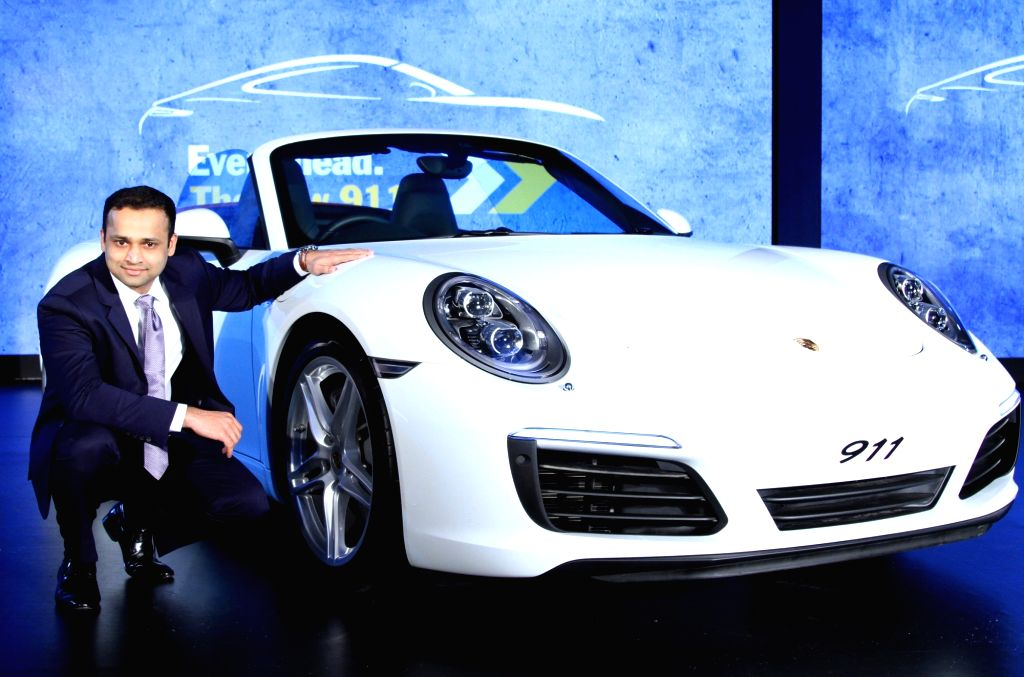 Pavan Shetty, Director, Porsche India at the launch of Porsche 911, in Bengaluru on July 23, 2016. - Shetty