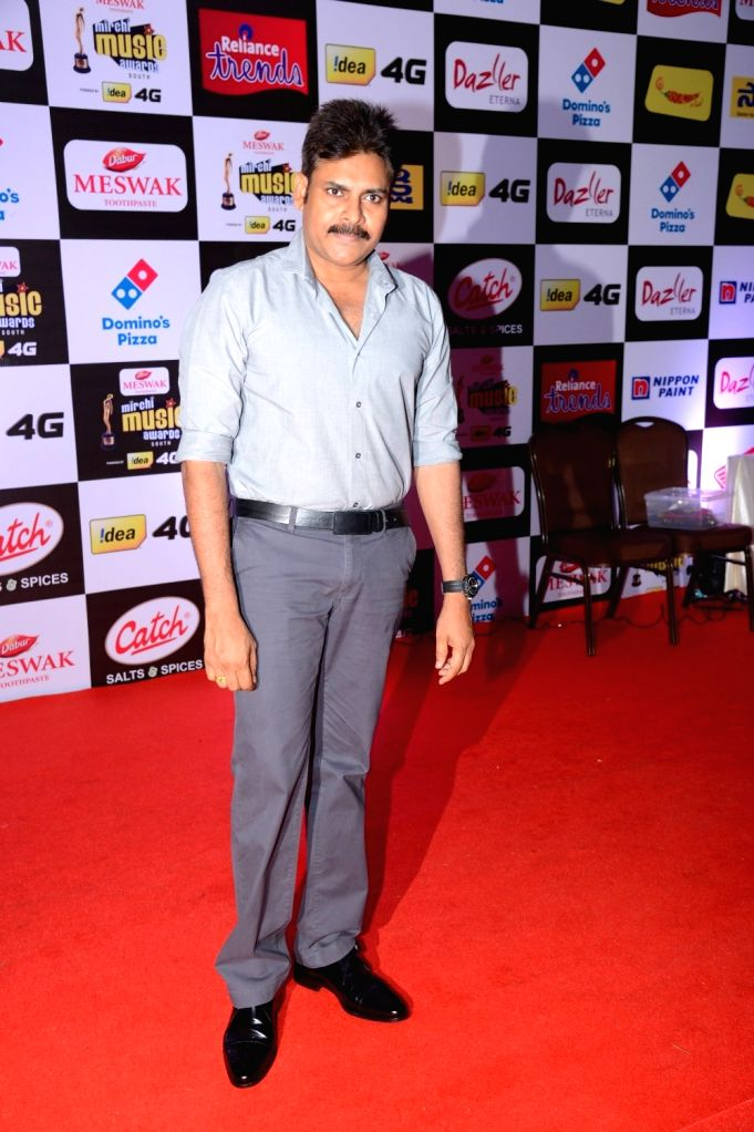 Pawan Kalyan at Mirchi Music Awards South 2016, on July 27, 2016.