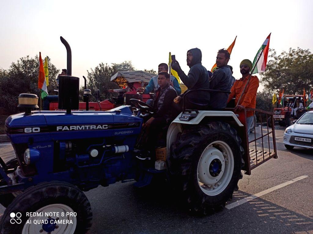 Peaceful farmers' rally in Gurugram on R-Day.