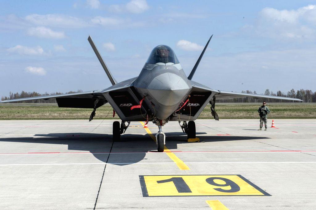 Pentagon sends F-22 fighters to Qatar amid Iran tensions. (Xinhua/Alfredas Pliadis/IANS)