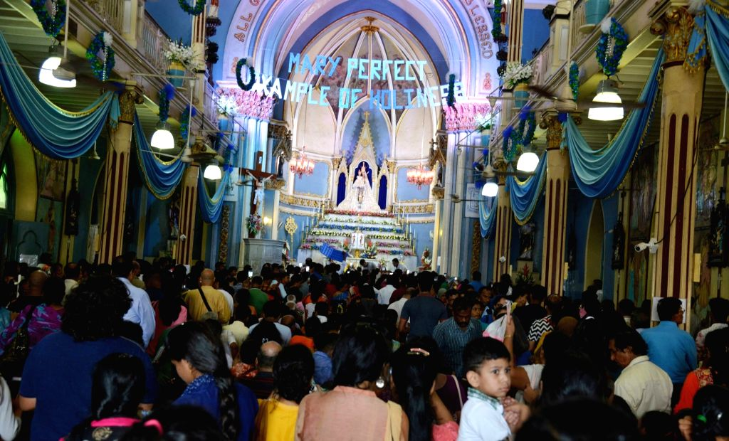 People at Mount Mary Church in Mumbai's Bandra during the week-long Bandra Fair, also known as Mount Mary Fair on Sept 9, 2018.