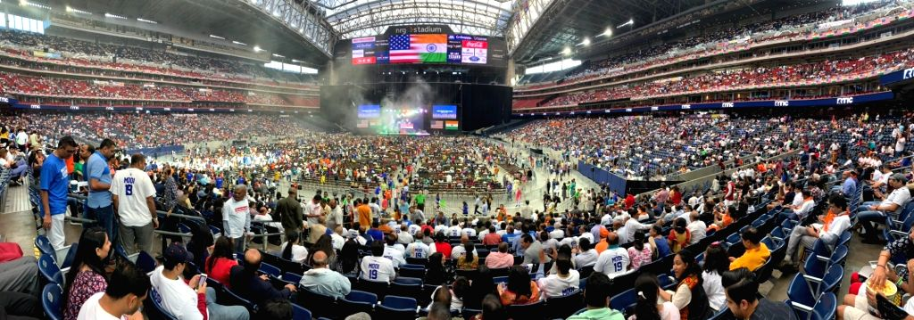 People attend the 'Howdy Modi' event at NRG Stadium in Houston, USA, on Sep 22, 2019. - Modi