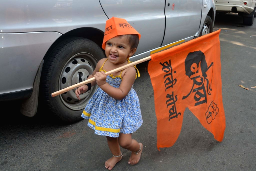 People belonging to Maratha community stage a demonstration to demand reservation in Mumbai, on Oct 16, 2016.
