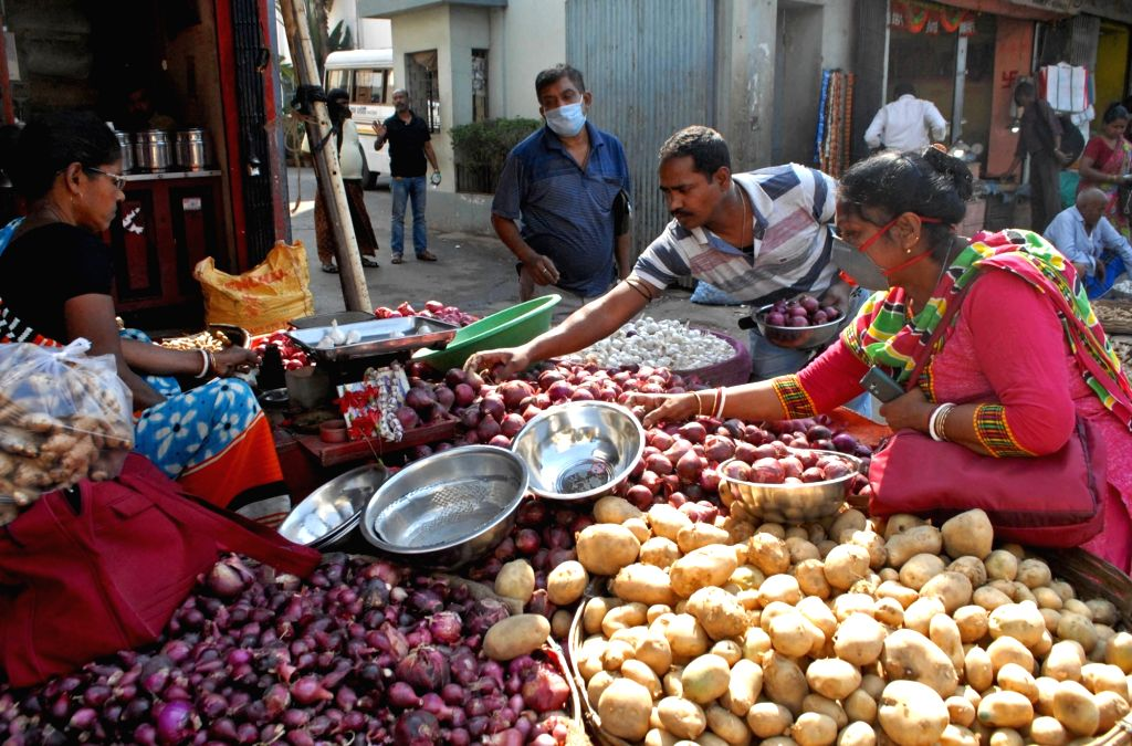 People busy purchasing vegetables ahead of Sunday's nationwide 'Janta Curfew' announced by Prime Minister Narendra Modi as a measure to contain the spread of COVID-19 (Coronavirus), in ... - Narendra Modi