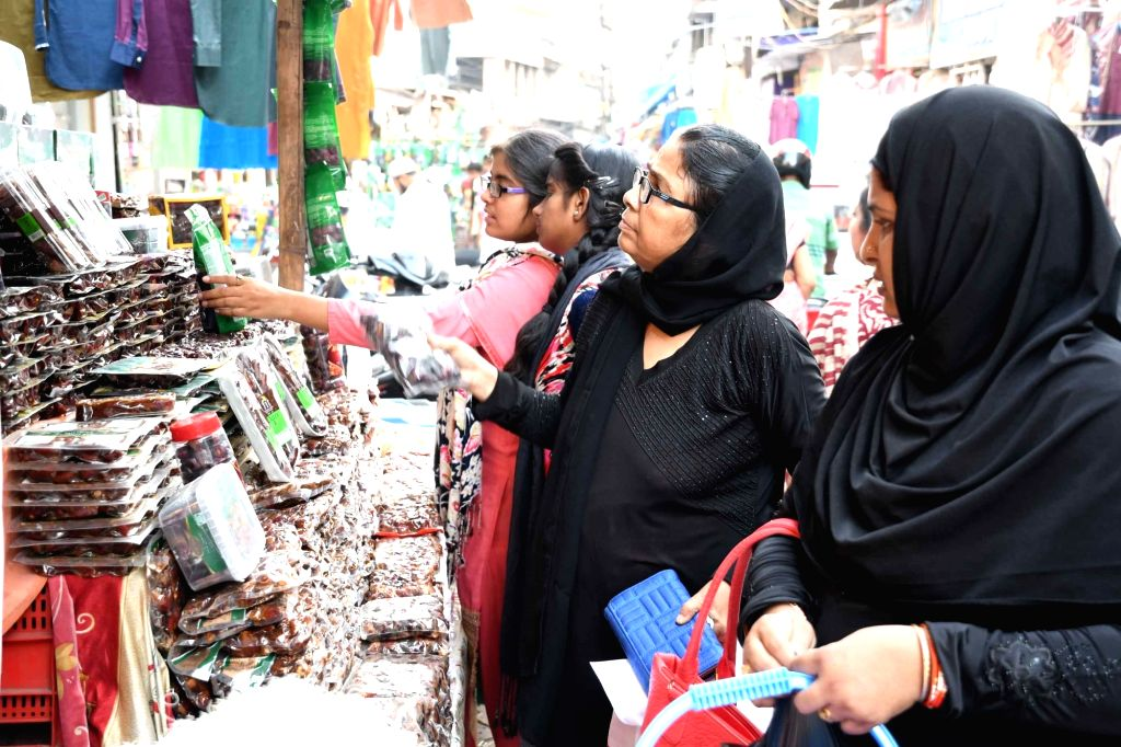 People busy shopping ahead of Ramadan in Patna on May 27, 2017.