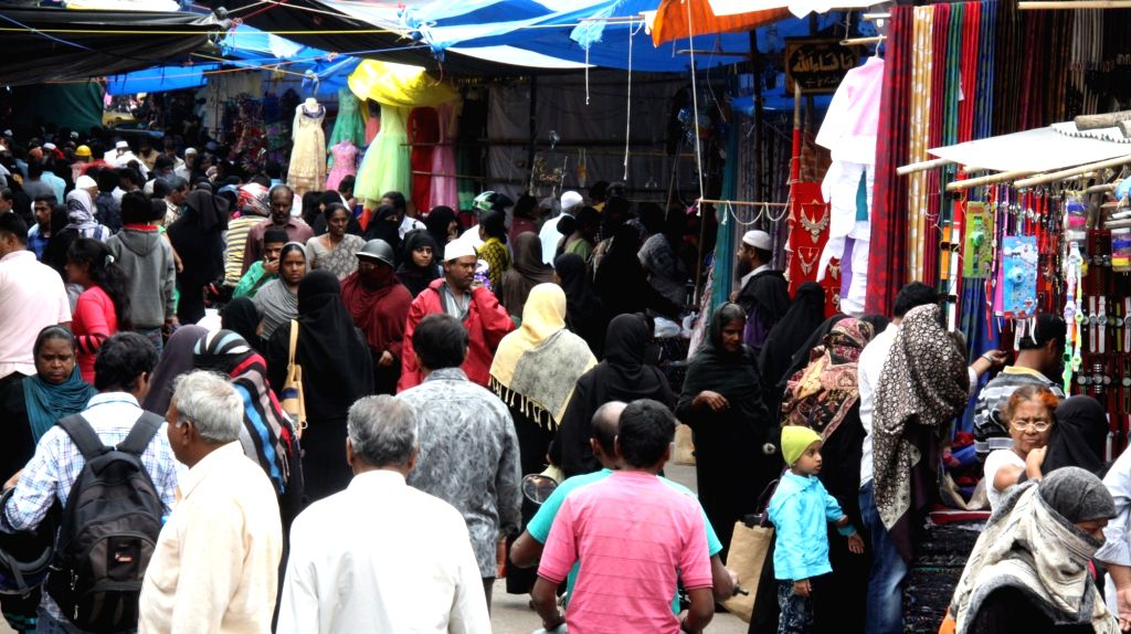 People busy with Eid shopping in Bengaluru, on July 5, 2016.