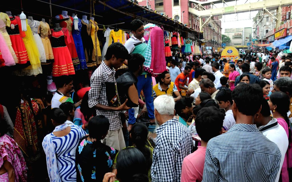 People busy with Eid shopping in Kolkata, on July 16, 2015.