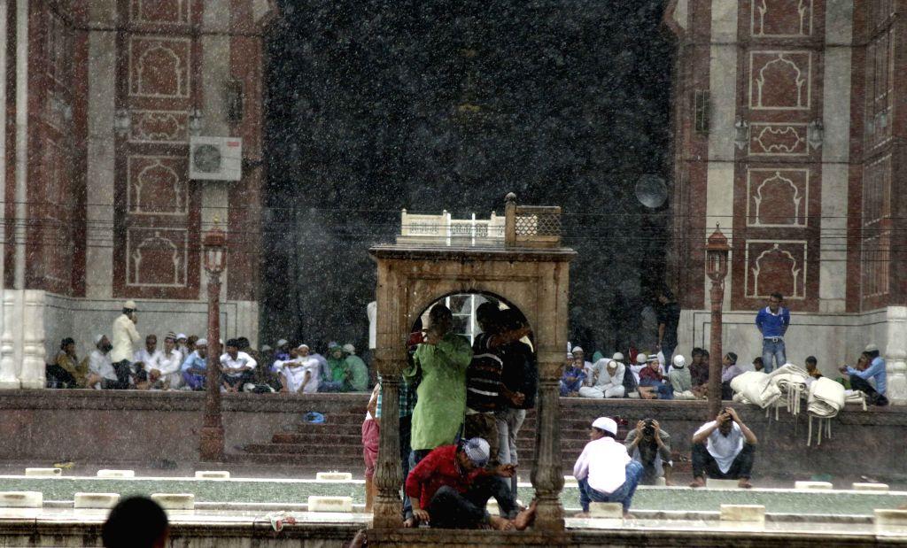 People busy with Eid shopping  near Jama Masjid in New Delhi, on July 17, 2015.