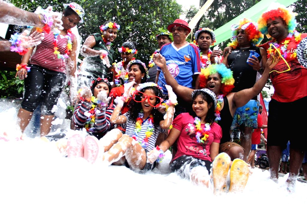 People celebrate feast of St John the Baptist also known as known as Saojao feast at Taleigao, in Goa on June 24, 2016.
