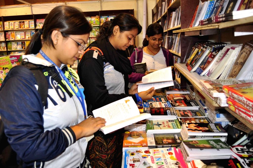 People during Patna Book Fair on Dec 6, 2017.