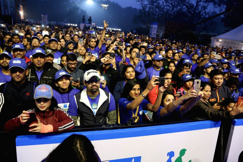 People during Walk for Health in New Delhi on Feb 18, 2018.