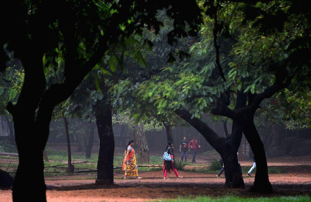People enjoying pleasant weather after heavy rains in Bengaluru on June 2, 2018.