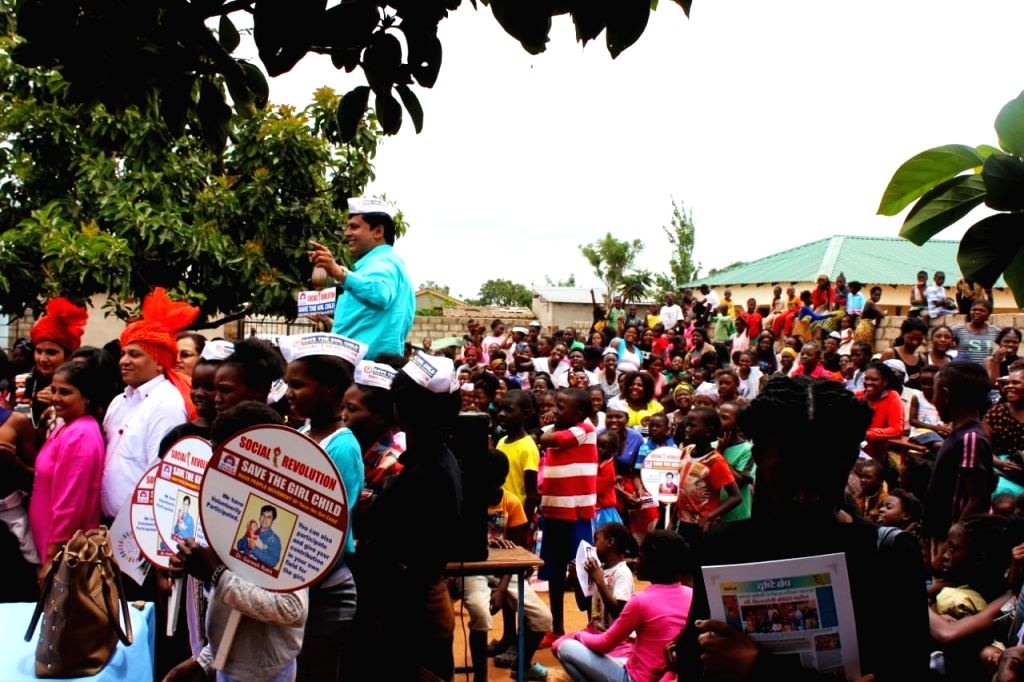 People in large numbers participate in 'Save Girl Child' rally in Lusaka, Zambia.