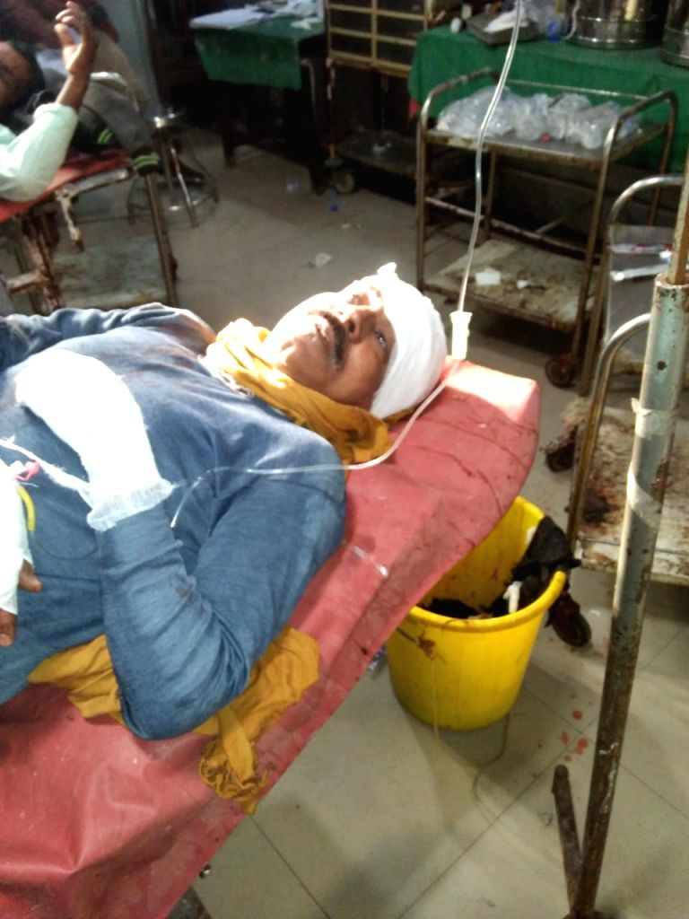 People injured in an explosion near Gandhi Maidan area of Patna, receiving treatment at the Patna Medical College and Hospital (PMCH) on Feb 10, 2020. The explosion took place in a house at ...