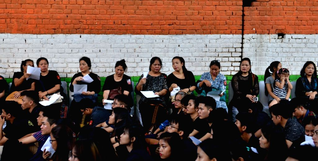 People of the Kuki community stage a 'dharna' (sit-in demonstration) to commemorate the 26th Anniversary of Sahnit- Ni observed as Kuki Black Day, at Jantar Mantar in New Delhi on Sep 13, ...