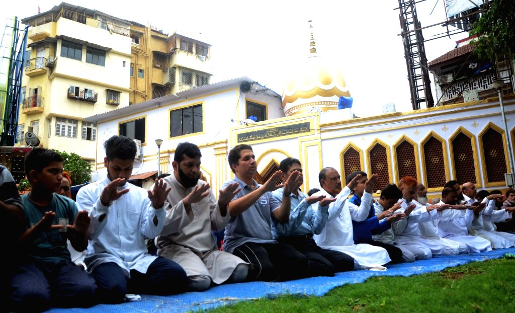 People offer namaz during Ramadan in Mumbai, on June 19, 2016.