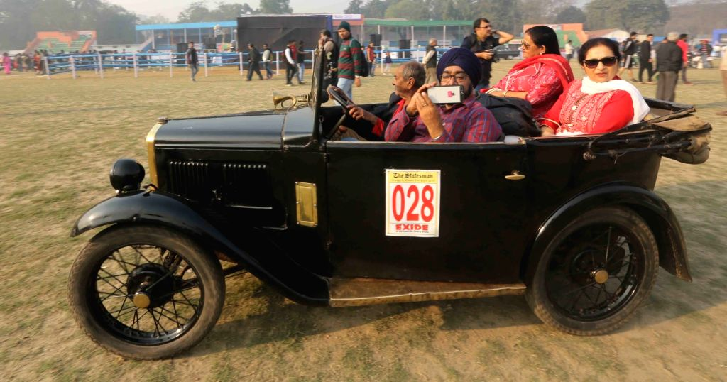 People participate in a vintage motor vehicle rally in Kolkata, on Feb 3, 2019.