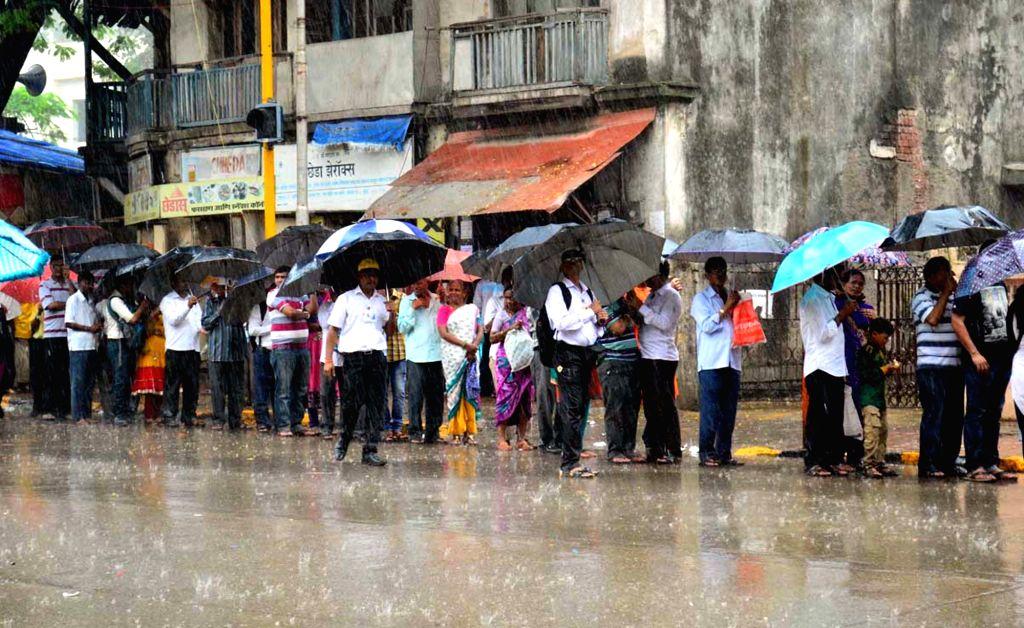 People participate in 'Ashadhi Ekadashi' procession in Mumbai on July 15, 2016.