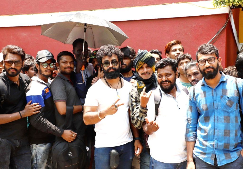 """People queue up during the auditions for 'KGF Chapter 2' - a sequel of the Kannada action film """"KGF"""", in Bengaluru on April 26, 2019."""