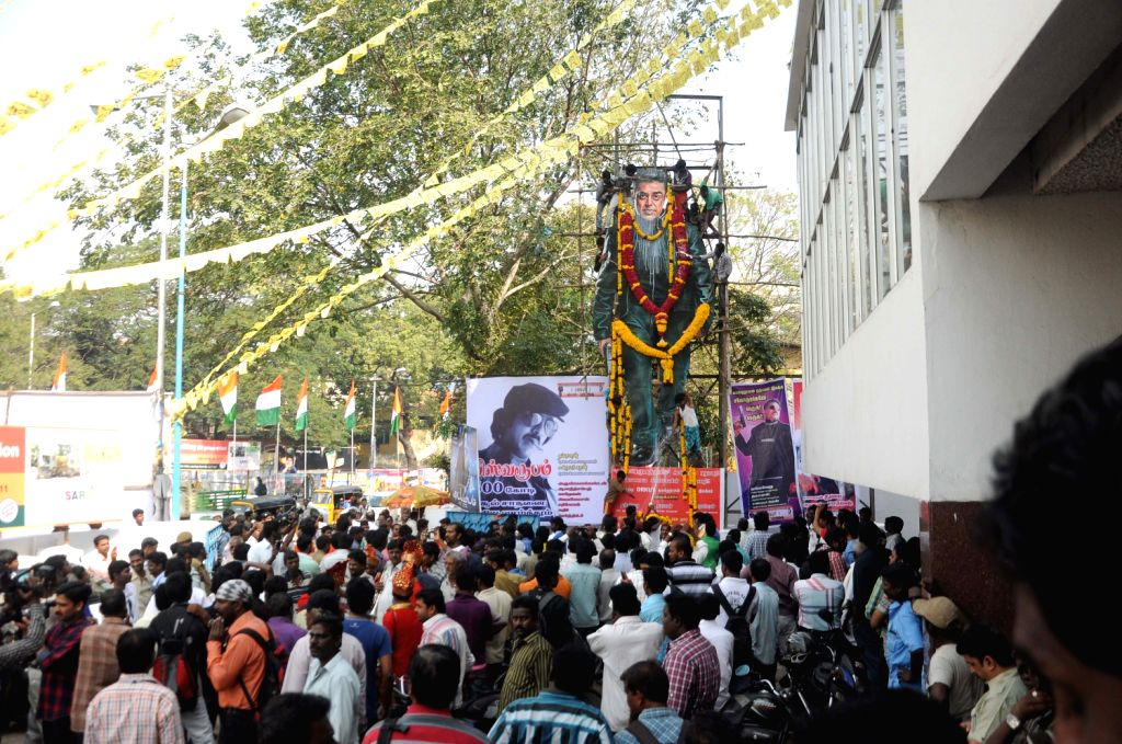 People throng cinema halls on the first day of the release of Vishwaroopam film in Chennai on Feb. 7.