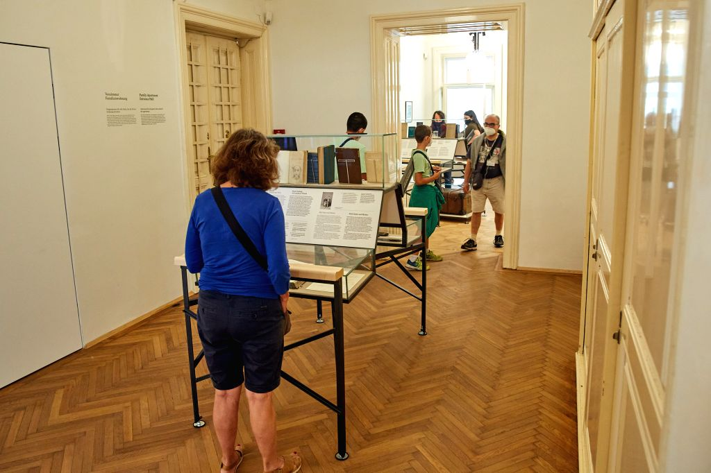 People visit Sigmund Freud Museum in Vienna, Austria, on Aug. 29, 2020. Sigmund Freud Museum in Vienna reopened to visitors on Saturday after an 18-month renovation ...
