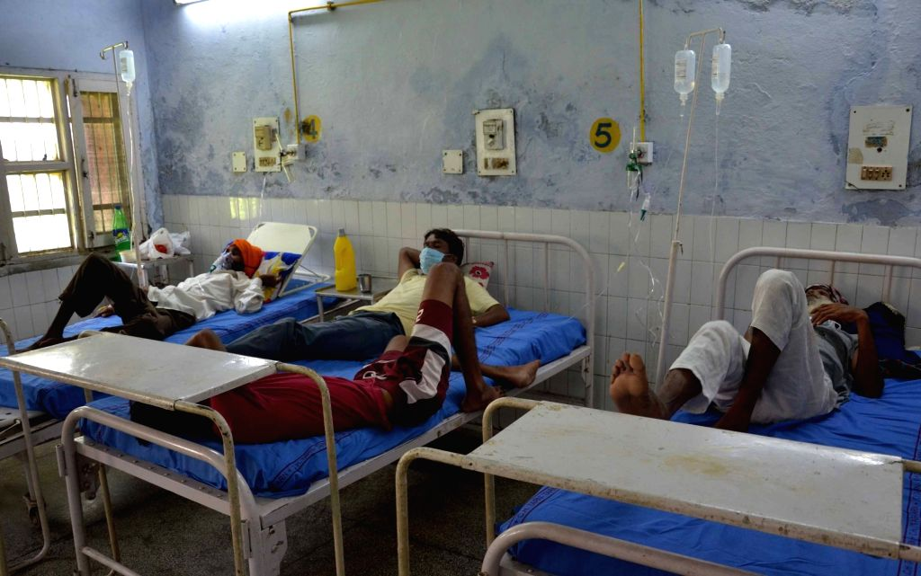 People who were taken ill due to the consumption of spurious liquor at a civil hospital in Tarn Taran some 25 kms from Amritsar on August 2, 2020. So far spurious liquor has claimed 86 ...