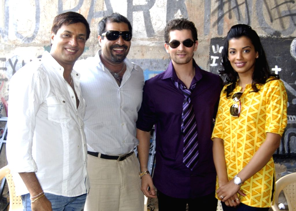 Percept Picture Company and Bhandarkar Entertainment's new venture Jail. Madhur Bhandarkar, Joint MD PPC, Shailendra Singh the leads of the film Neil Nitin Mukesh and Mugdha Godse during the Mahu